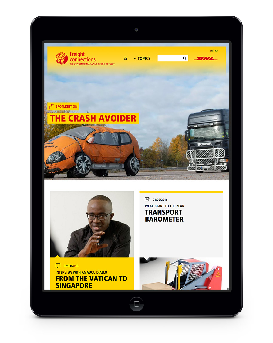Hh referenzen dhl freight mobile tablet